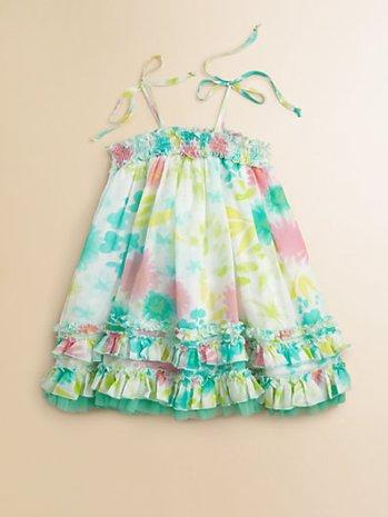 Halabaloo Infant Girl's Multicolor Floral Dress. Saks Fifth Avenue Easter