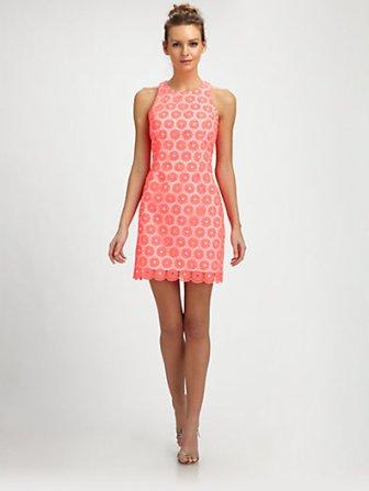 Lilly Pulitzer Pearl Dress in Fiesta Pink. Saks.com