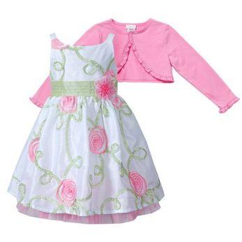 Youngland Floral Dress And Shrug Set - Toddler Easter
