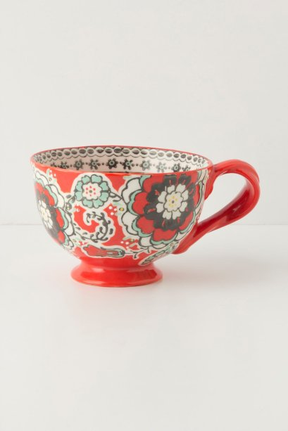 Ayaka Mug in Navy, Red or Yellow. Anthropologie