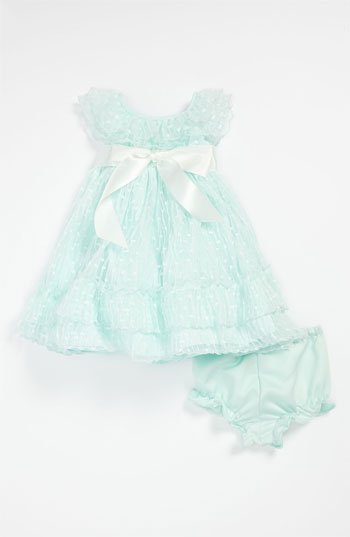Laura Ashley Dress & Bloomers (Infant) in Mint. Also available in 18 months and 24 months. Easter