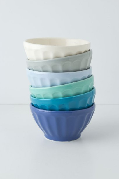 Latte bowls in blue, citrus, oceana, pigment or retro. Anthropologie