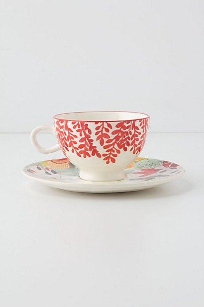 Evenings in Quito Cup & Saucer. Anthropologie