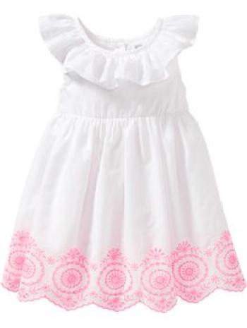 Easter Old Navy Ruffled Embroidered-Hem Dresses for Baby