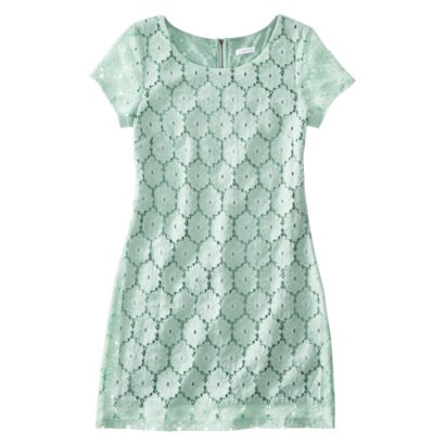 Xhilaration Juniors Eyelet Shift Dress in Orange, Mist, Cream, or Black. Target.com