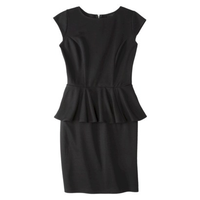 Mossimo Women's Peplum Dress in Black or Black and White. Target.com