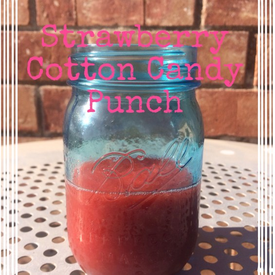Strawberry Cotton Candy Punch recipe by Candace Rose Anderson. Candieanderson.com