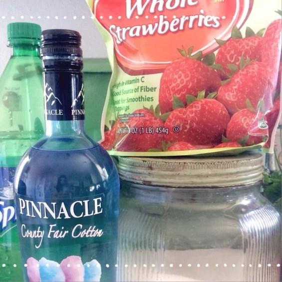 Punch Frozen Strawberries