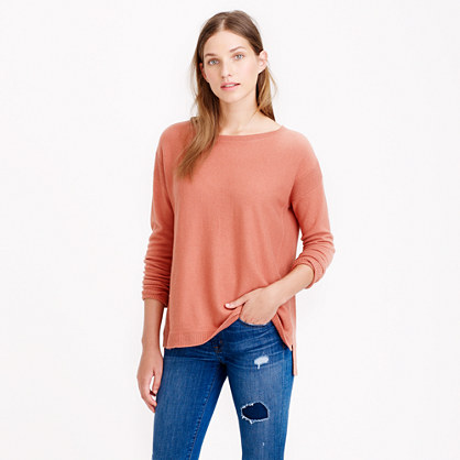 J.Crew COLLECTION CASHMERE TEXTURED-FRAME SWEATER item a1526 in Rustic Clay