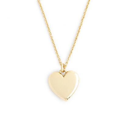 """J.Crew 14K GOLD HEART CHARM NECKLACE WITH 16"""" CHAIN"""