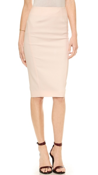 Elizabeth and James Carolan Pencil Skirt in Peony Pink