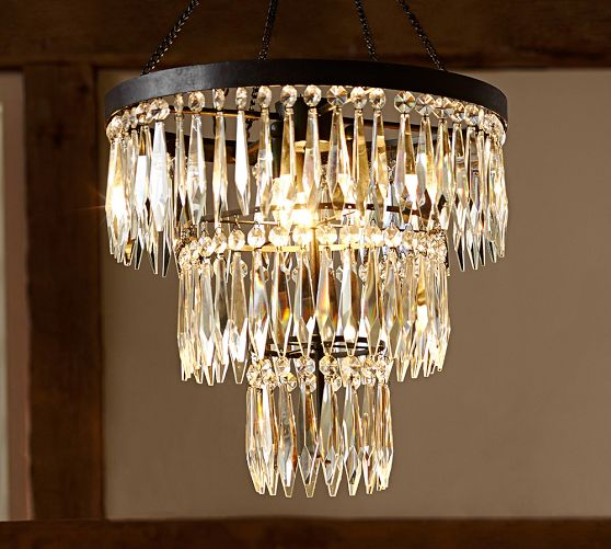 Pottery Barn Bella Chandelier: A Glam Chandelier Makes A House A Home + Pottery Barn 20