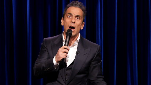 """Comdedian Sebastian Maniscalco performs jokes about growing up with immigrant parents and taking bathroom selfies on """"The Tonight Show Starring Jimmy Fallon"""" on Friday, November 14th!"""