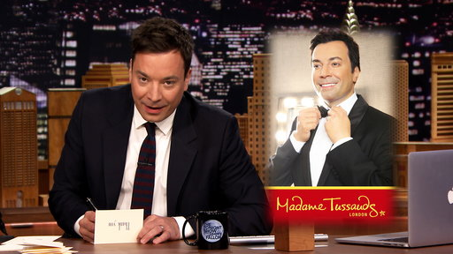 """Watch Jimmy Fallon pen thank you notes to The Final Four, One Direction, the movie Get Hard, Pope Francis, garage sales, acoustic guitars, James Corden, """"The Late Late Show"""" host; Madame Tussauds and adults on swing sets on the Friday March 27th episode of """"The Tonight Show""""."""