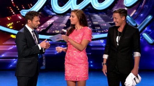 American Idol season 14 episode 26 Arena Anthems: FIFA Women's World Cup National Team members Alex Morgan and Abby Wambach joined Ryan Seacrest on the Idol stage before the contestants performed tonight. They even handed Ryan his own personalized jersey!