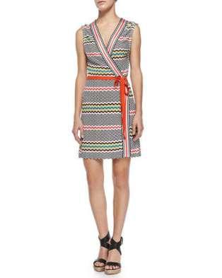 Missoni Mare Copricost Printed/Striped Wrap Dress