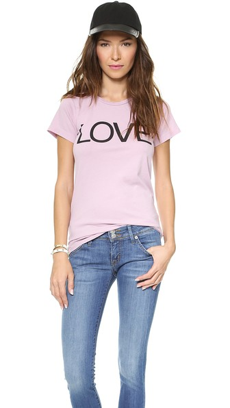FREECITY Love T-Shirt in Pink Clay