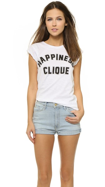 Happiness Happiness Clinque Tee in White