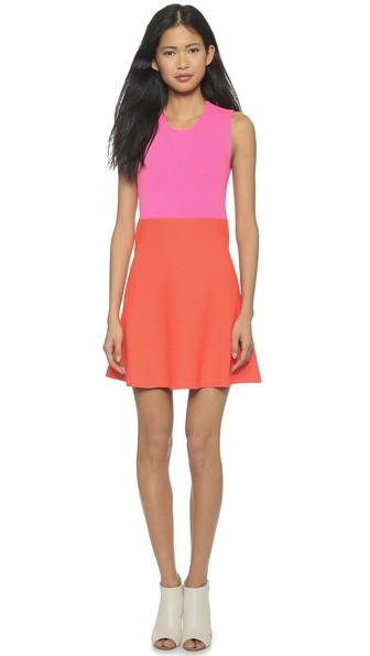 A.L.C. Cini Dress in Bubblegum/Sunset. Shopbop