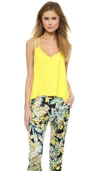 Parker Knox Silk Top in Sunbeam. Shopbop