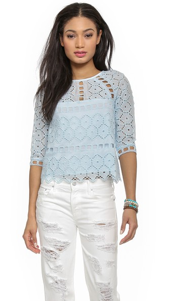 Saylor Cat Blouse in Robins Egg Blue. Shopbop Extra 25% sale