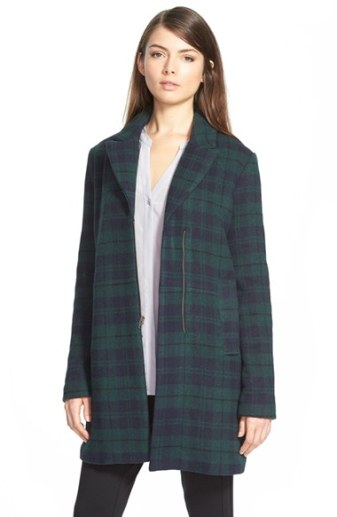 cupcakes and cashmere 'Cardiff' Plaid Coat