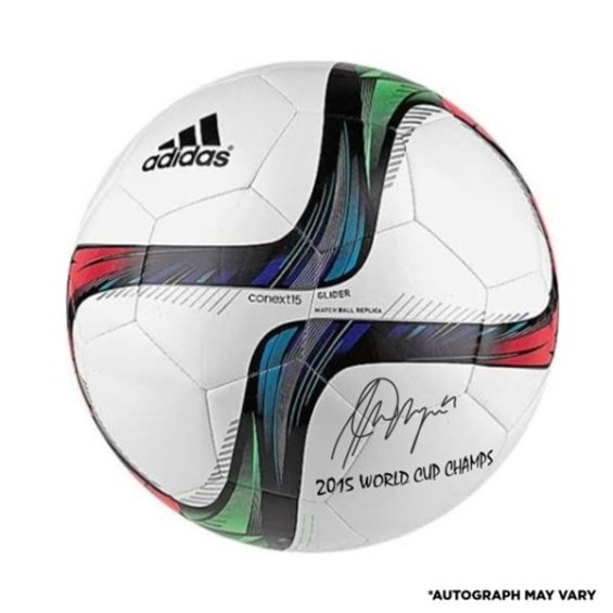 Fanatics Authentic Alex Morgan US Women's Soccer Team 2015 World Champions Autographed Adidas White Glider Soccer Ball with 2015 World Champs Inscription