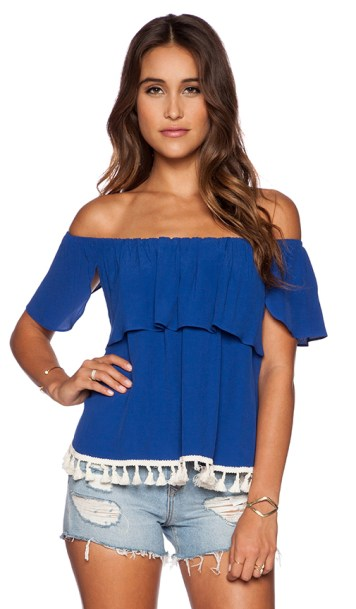 OFF SHOULDER TOP By T-BAGS LOSANGELES in Royal Blue