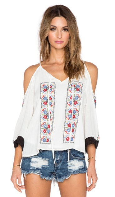 """VAVA BY JOY HAN """"MAGNOLIA OFF THE SHOULDER TOP"""" in Off White"""