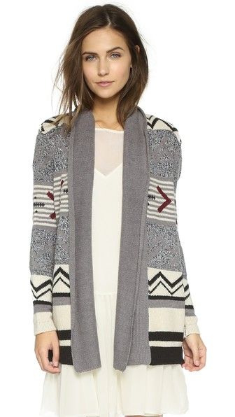cupcakes and cashmere Sequoia Sweater in Heather Grey