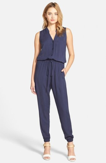 cupcakes and cashmere 'Roxbury' Jumpsuit (Nordstrom Exclusive) in Navy Blue