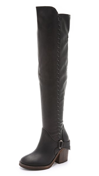 Free People Auburn Tall Boots in Washed Black