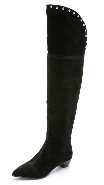Marc by Marc Jacobs Lula Suede Over the Knee Boots in Black