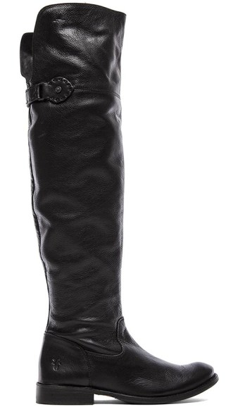 SHIRLEY OVER THE KNEE FLAT BOOT By FRYE in BLACK