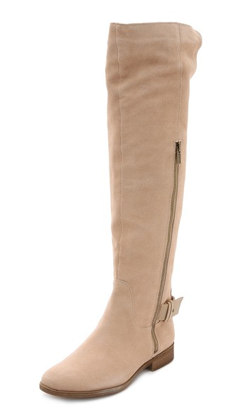 Splendid Polly Over the Knee Boots in Nut