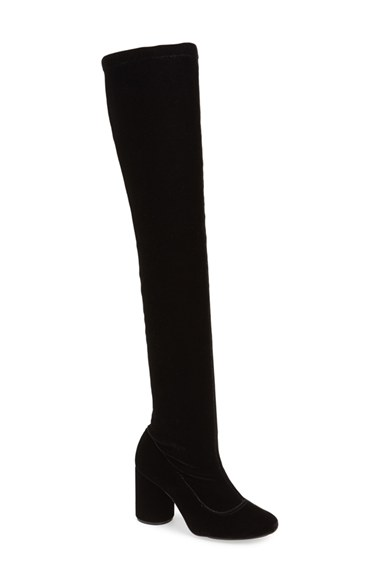 Topshop 'Private' Over the Knee Boot (Women) in Black