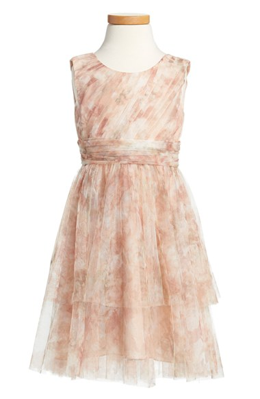 Jenny Yoo 'Etsy - Vintage Floral' Tulle Dress (Toddler, Little Girls & Big Girls) in Blush Multi