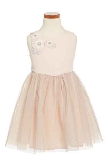 Ruby & Bloom Sleeveless Tulle Dress (Toddler Girls, Little Girls & Big Girls) in Pink Peony Bud