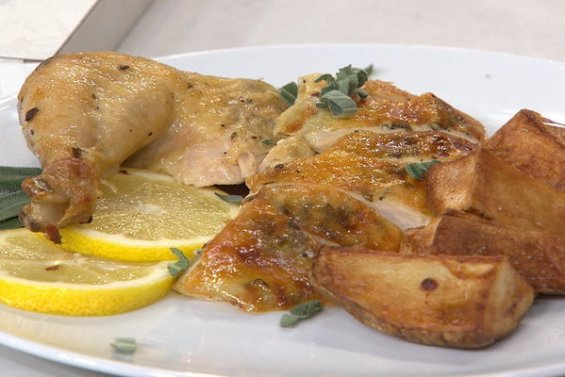 Watch Joel Gamoran, senior resident chef at Sur La Table in New York City show Kathie Lee Gifford and Hoda Kotb how to make a delicious five ingredient roasted chicken and potatoes on the Tuesday, February 23rd episode of the Today show! video