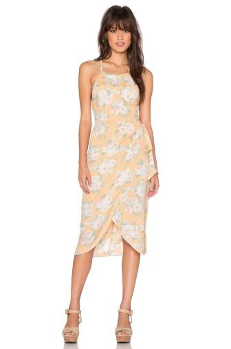 Privacy Please Nassau Floral Print Wrap Dress Flore