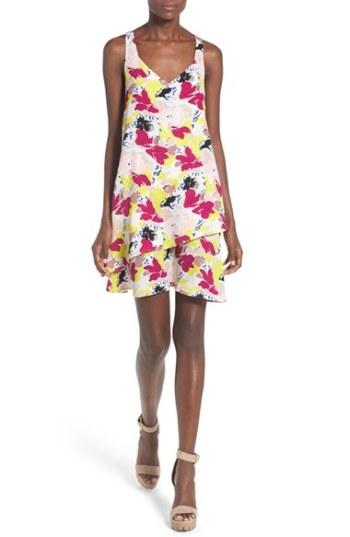Devlin 'Kristin' Floral Print Swing Dress Floral trapeze dresses for easter