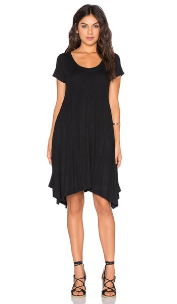 HEATHER PANELED TRAPEZE DRESS Black trapeze dresses for easter