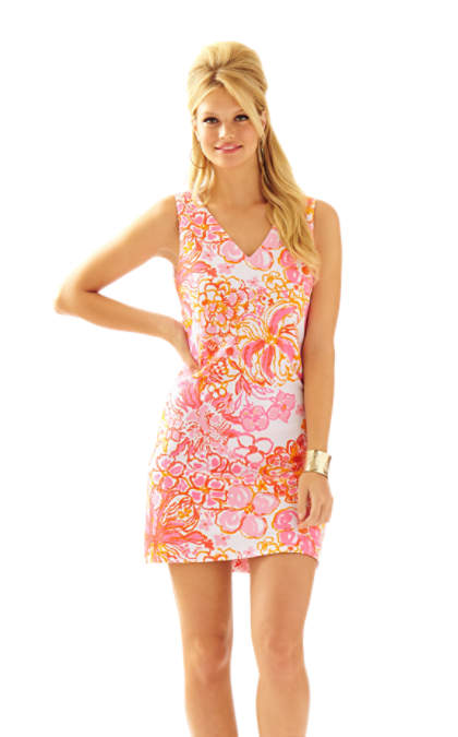 Lilly Pulitzer MIKAYLA V-NECK SHIFT DRESS Resort White Happiness Is lilly pulitzer shift dresses for easter
