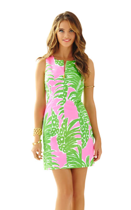 Lilly Pulitzer MILA SHIFT DRESS Pink Pout Flamenco