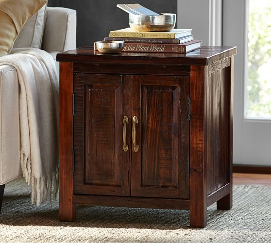Pottery Barn BOWRY RECLAIMED WOOD SIDE TABLE Eco-Friendly