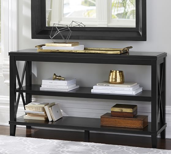 Pottery Barn CASSIE CONSOLE TABLE Black Finish or White