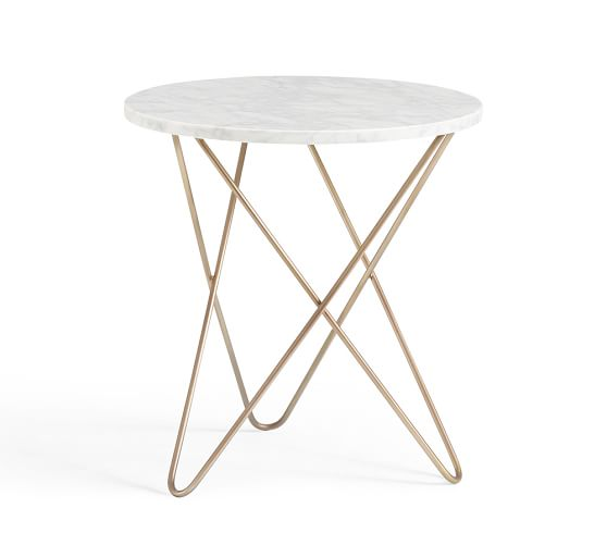 Pottery Barn DARCY MARBLE-TOP ACCENT SIDE TABLE pottery barn sale