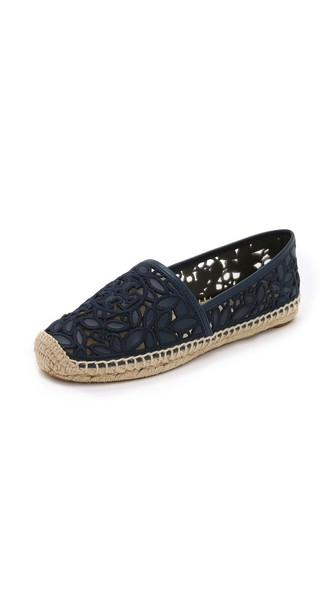 Tory Burch Rhea Lace Espadrilles Bright Navy Shopbop Spring Sale