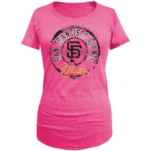 5TH & OCEAN BY NEW ERA SAN FRANCISCO GIANTS WOMEN'S PINK MOTHER'S DAY MOM TRI-BLEND T-SHIRT