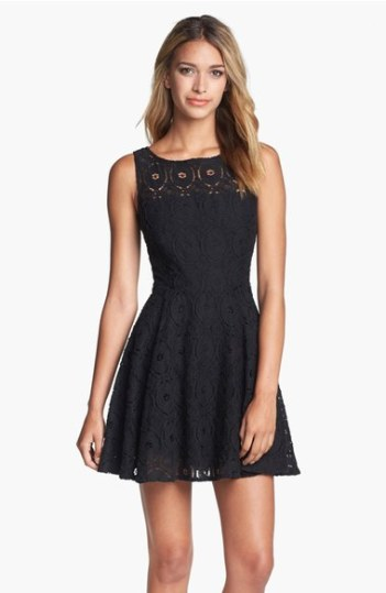 BB Dakota 'Renley' Lace Fit & Flare Dress (Nordstrom Exclusive) Black fit and flare dresses kentucky derby